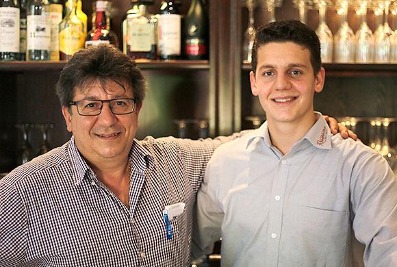 Salvatore Veraldi mit seinem Sohn Daniele veraldi @ Siegbert Mattheis